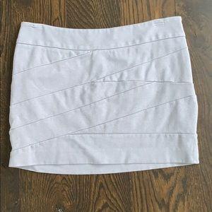 Express gray mini skirt